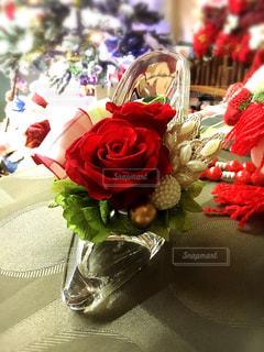 花,赤い花,プレゼント,flower,ローズ,ガラスの靴
