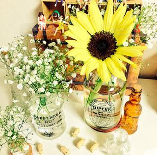 インテリア,花,かすみ草,ひまわり,フラワー