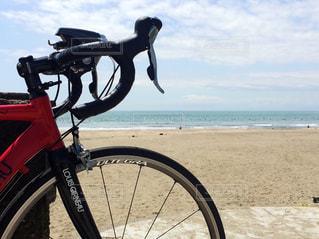 アウトドア,海,青空,砂浜,サイクリング,休日,ロードバイク