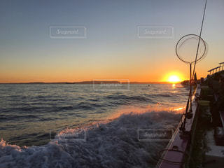 アウトドア,海,朝日,青空,夜明け,休日,東京湾,船釣り