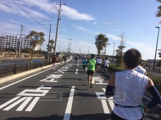 マラソン大会の写真・画像素材[1006439]