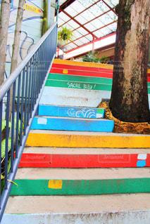 屋外,階段,カラフル,観光地,アート,観光,オーストラリア,カラー,キュランダ,塗装,クイーンズランド