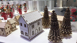 冬,雪,街,ミニチュア,家,外国,クリスマス,ツリー,ペーパークラフト