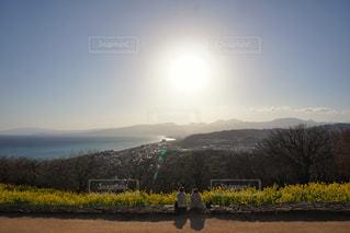 夕日と菜の花の写真・画像素材[1017971]