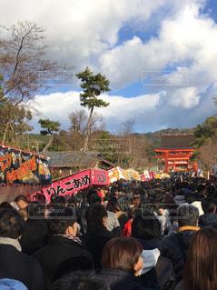 お正月の伏見稲荷神社の写真・画像素材[966844]