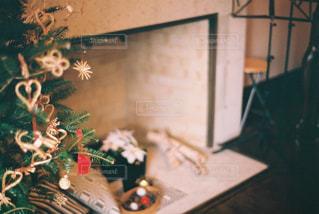 冬,屋内,クリスマス,暖炉,暖かい