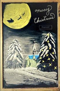 冬,クリスマス,黒板アート