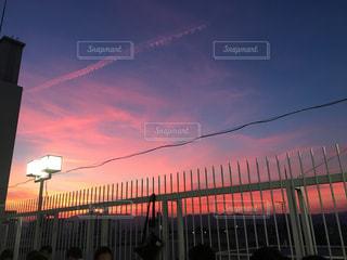 赤い空の写真・画像素材[1307166]