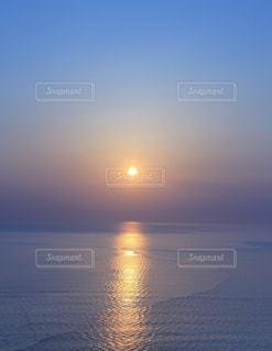 海,夕日,夕焼け,北海道,水平線,広角