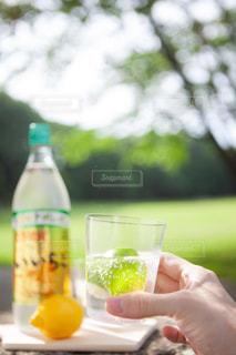 ボトルを保持している人の写真・画像素材[1265348]