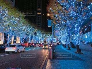 風景,イルミネーション,クリスマス,寒い日,夜の町