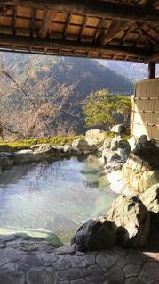 自然,緑,渓谷,山の上,露天風呂,天然,祖谷温泉