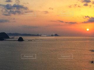 海,夕日,夕陽,高知県,中土佐町,久礼湾,双名島