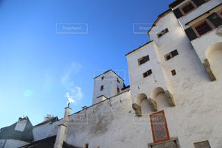 青空,青,ヨーロッパ,旅行,旅,オーストリア,海外旅行,景観,要塞,ザルツブルク