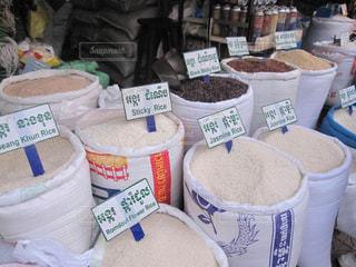 食べ物,屋外,市場,米,東南アジア,マーケット,生活,カンボジア,日中,雑然,フォトジェニック,エリア