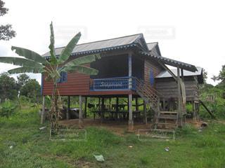 カンボジアの民家の写真・画像素材[1843547]