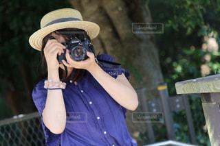 カメラ女子の写真・画像素材[1852870]
