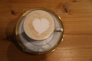 紅茶ラテアートの写真・画像素材[2706216]