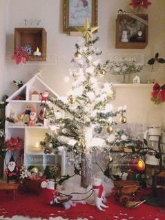 冬,クリスマス,玄関,クリスマスツリー