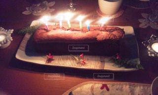 冬,ケーキ,ろうそく,クリスマス