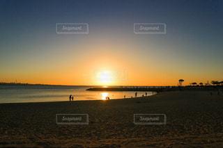 自然,海,空,太陽,砂浜,夕焼け,海岸,オレンジ,光