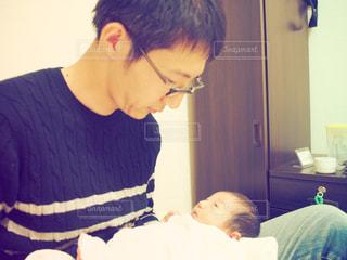 親子,子供,新生児,父