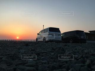 風景,海,空,夕日,ビーチ,海岸,北海道,黄昏,夕陽,ドライブ,ヴェルファイア,黄昏時