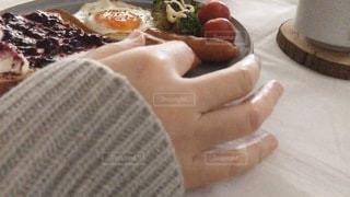 ワンプレートごはんの朝食🍽🍞🍳☕️の写真・画像素材[3266279]