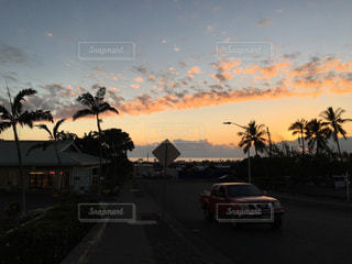 ハワイ島の夕焼けの写真・画像素材[966246]
