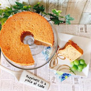 紅茶のシフォンケーキの写真・画像素材[1068635]