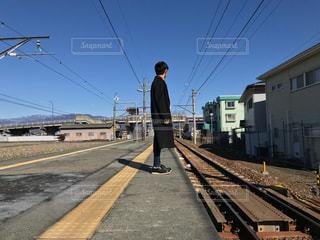 駅,電車,青空,線路,田舎,休日,ローカル線,電車旅
