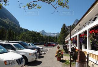 公園,駐車場,アメリカ,山,旅行,休日,ドライブ,国立公園,レストハウス