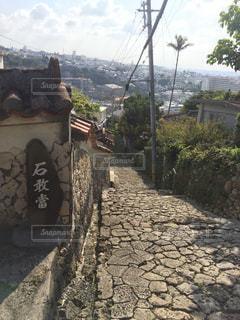 首里金城町石畳道の写真・画像素材[1042457]