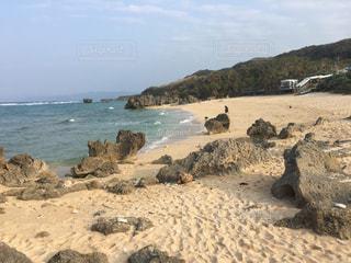 沖縄県古宇利島のトケイ浜2の写真・画像素材[1042689]