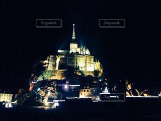 聖なる山モンサンミッシェルの写真・画像素材[1021343]