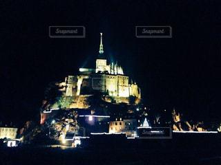 神秘的な聖地。モンサンミッシェルの写真・画像素材[1682041]