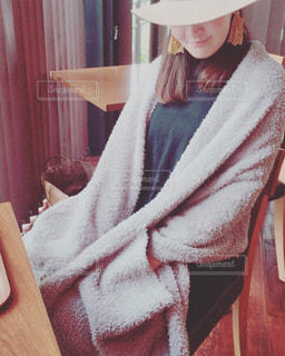 冬のあったかファッションの写真・画像素材[1682953]
