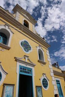 黄色,教会,マカオ,海外旅行,コロアン島