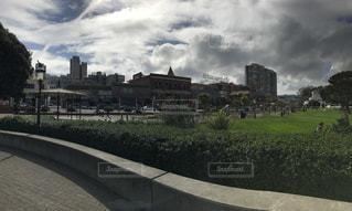 風景,空,建物,街並み,緑,雲,アメリカ,旅行