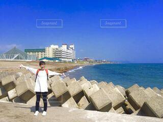 快晴の海の写真・画像素材[4133466]