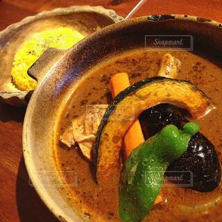 土鍋のスープカレー 一人一鍋じっくり作ってくれますの写真・画像素材[4192546]