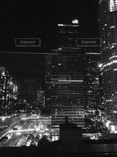 夜景,海外,モノクロ,アメリカ,白黒,外国,旅行,高層ビル,ロサンゼルス,海外旅行,ダウンタウン,ビル群,ルーフトップバー,ルーフトップ,L.A.