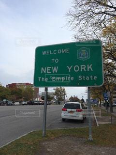 ニューヨーク,海外,看板,道路,アメリカ,標識,外国,旅行,海外旅行,ナイアガラ,ニューヨーク州,Welcome to New York