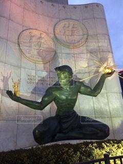 海外,観光地,アメリカ,外国,旅行,銅像,像,デトロイト,海外旅行,ダウンタウン,スピリット オブ デトロイト,Sprit of Detroit