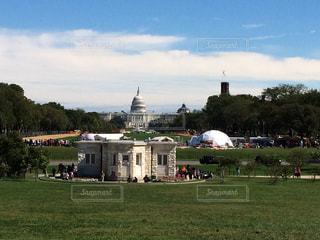 風景,空,建物,海外,緑,青空,アメリカ,外国,旅行,海外旅行,ワシントンD.C.,アメリカ合衆国議会議事堂