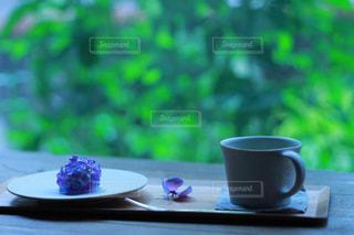 紫陽花和菓子の写真・画像素材[2254743]