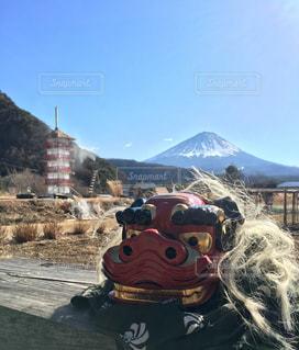 富士山と獅子の写真・画像素材[970051]