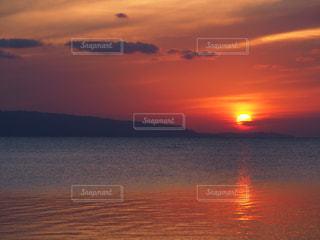 フサキビーチからの夕焼けの写真・画像素材[1274776]