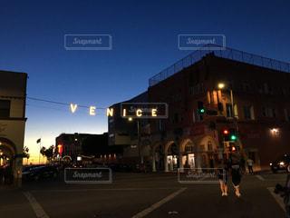 空,夕日,アメリカ,LA,ロサンゼルス,海外旅行,夕やけ,ベニスビーチ,VENISE