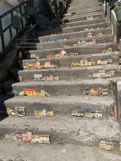釜山の階段アートの写真・画像素材[2179573]